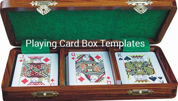 Playing Card Template Word Lovely 15 Playing Card Box Templates Free Pdf format Download