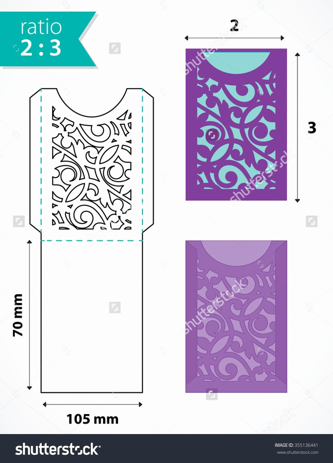 Pocket Envelope Template New Die Cut Pocket Envelope Template with Cutout Pattern