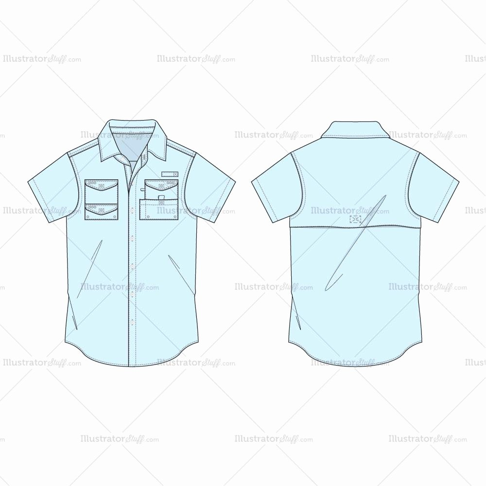 Pocket Shirt Template Awesome Men S Regular Fit Classic Oxford Shirt Fashion Flat