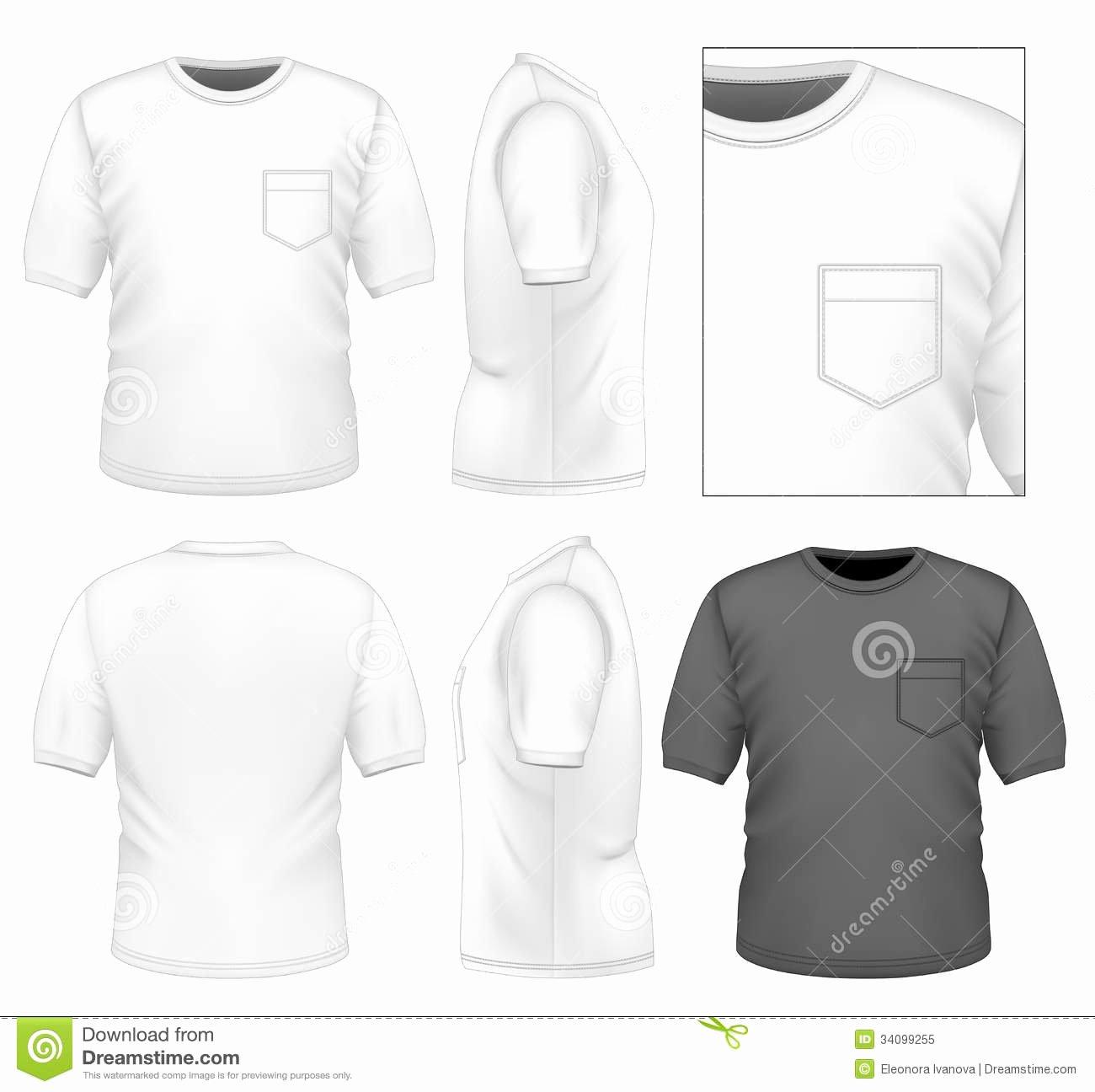 Pocket Shirt Template Beautiful Men S T Shirt Design Template Royalty Free Stock