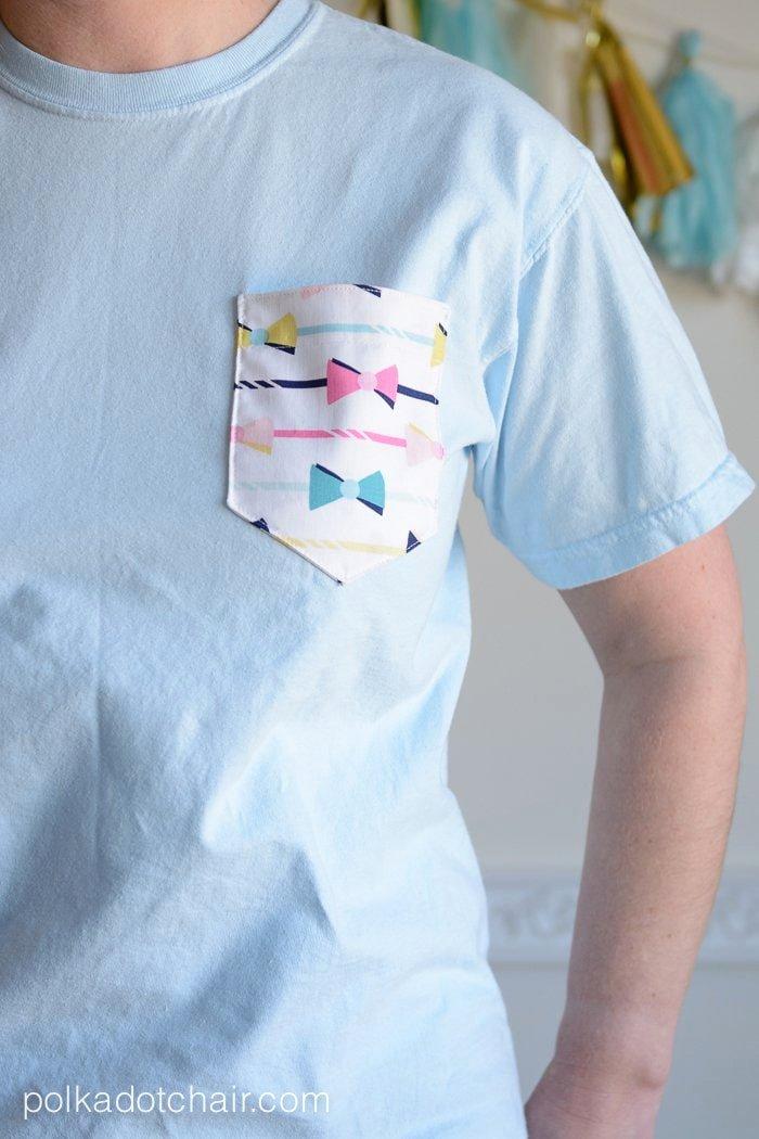 diy embellished pocket tees
