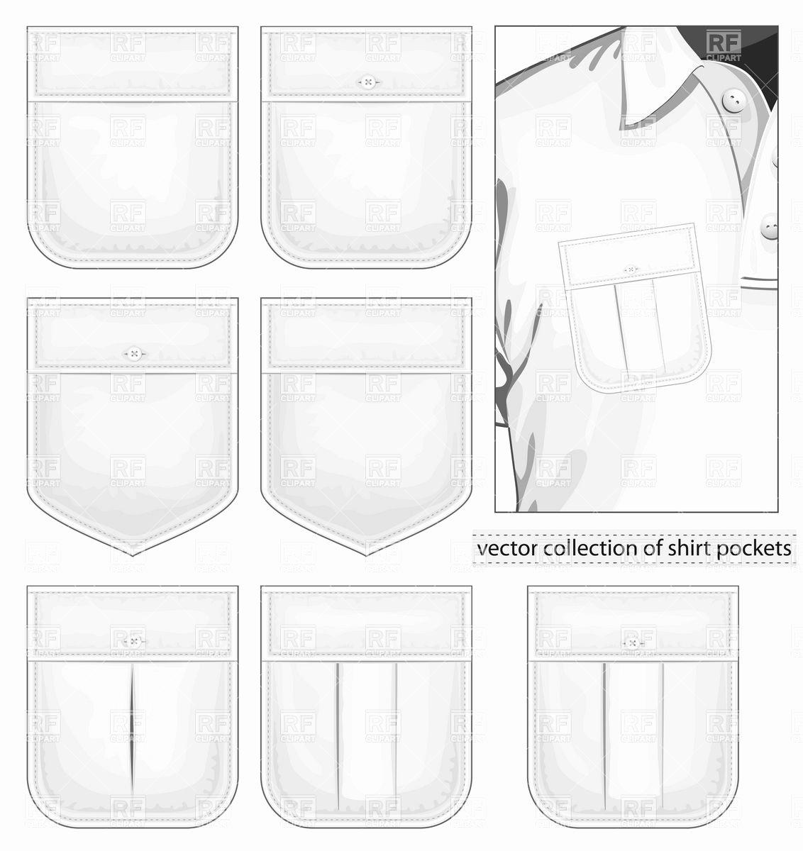 Pocket Shirt Template Fresh Collection Of Shirt Pockets Vector Image – Vector Artwork