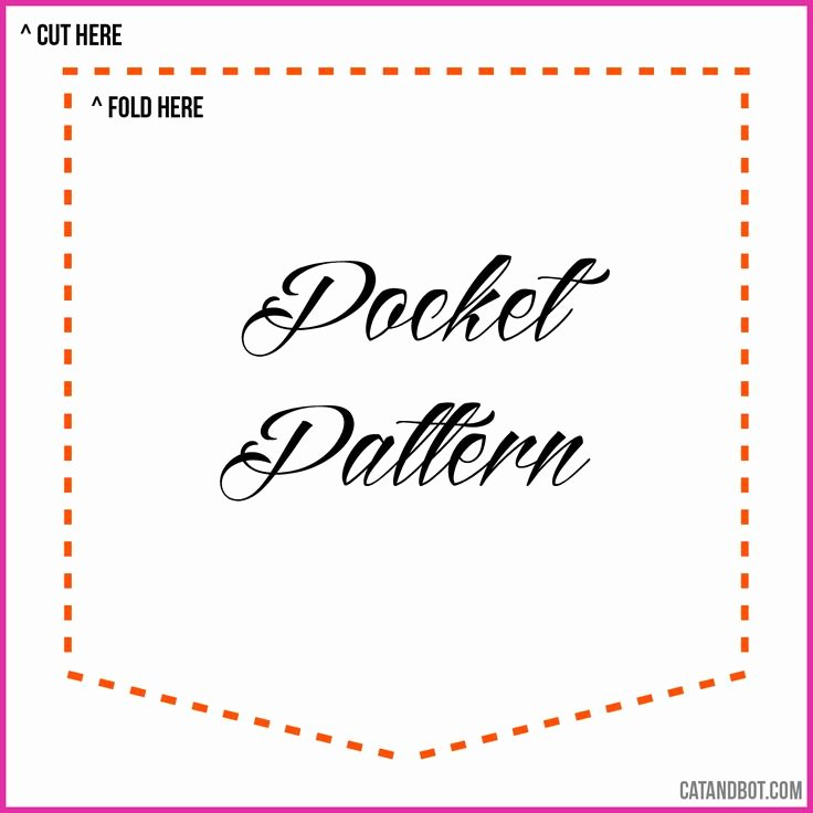 Pocket Shirt Template Inspirational Pocket Pattern for Diy Pocket Tee