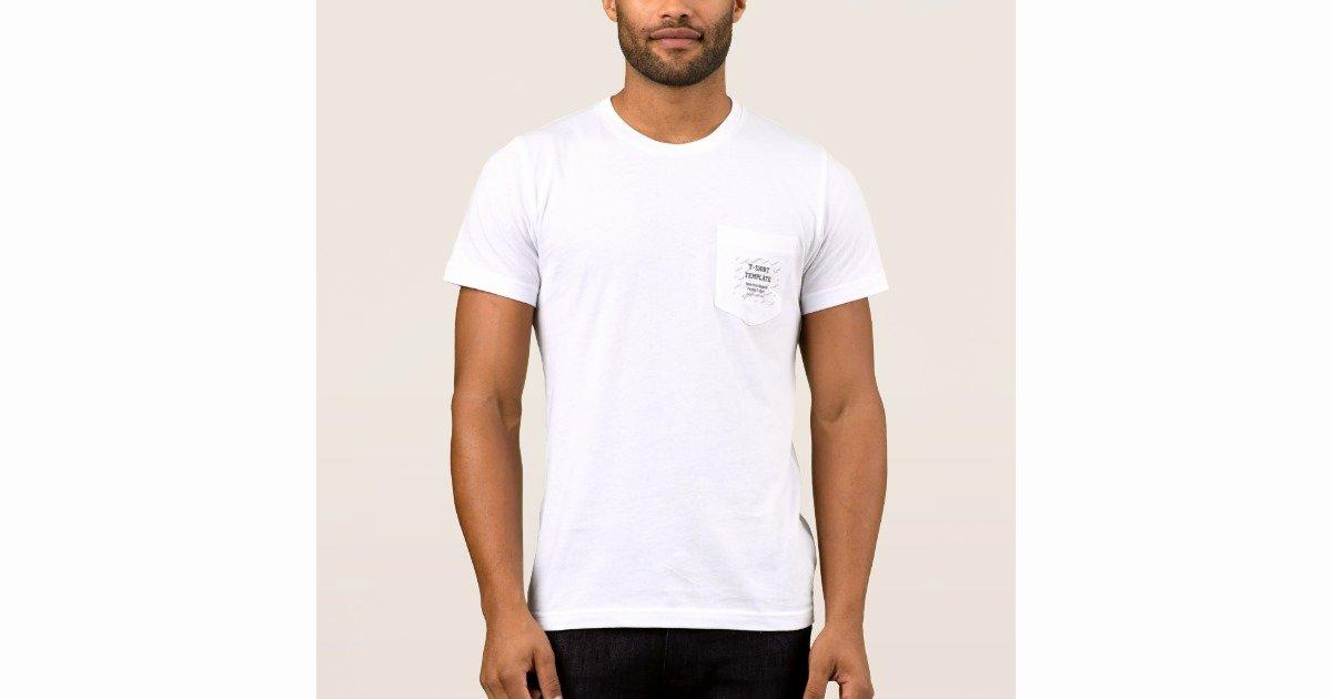 Pocket Shirt Template New Men S Custom Pocket T Shirt Template Blank Sf Grey