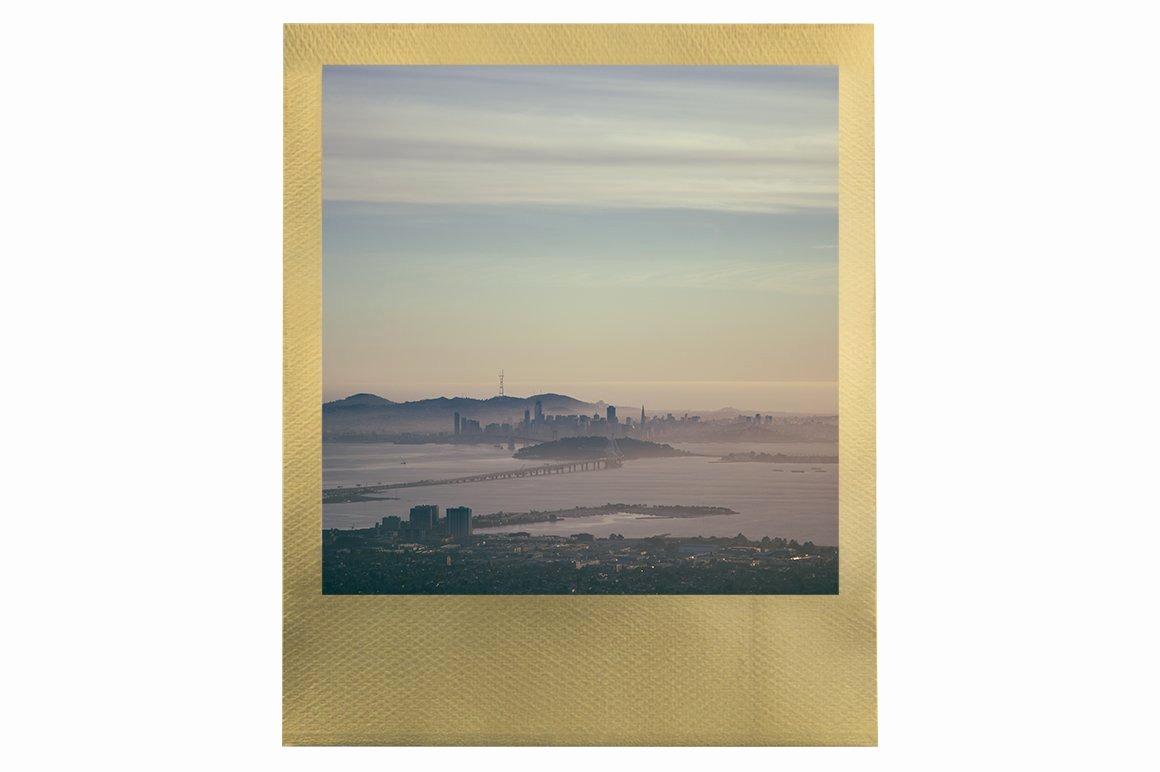 Polaroid Frame Psd Beautiful Gold Polaroid Frame Psd Mockup Product Mockups