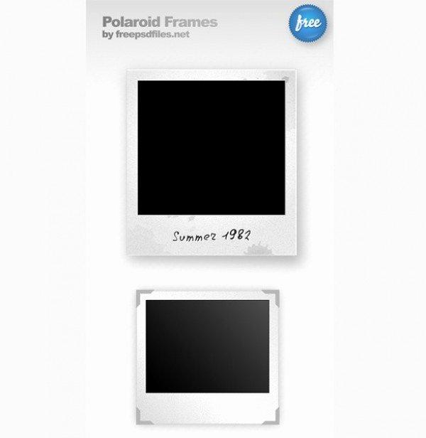 Polaroid Frame Psd Elegant 2 Vintage Polaroid Frames Set Psd Welovesolo