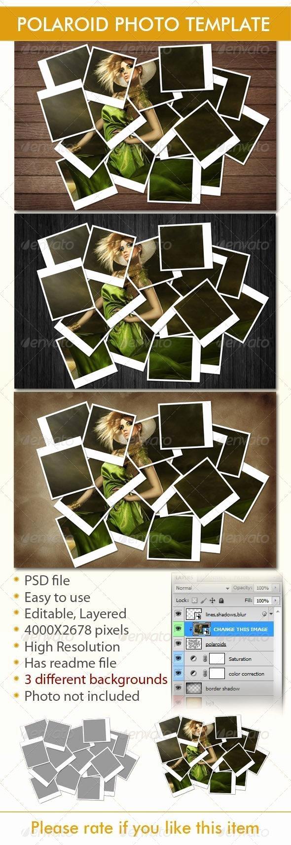 Polaroid Frame Psd Elegant 20 Polaroid Mockup Psd Templates Collection