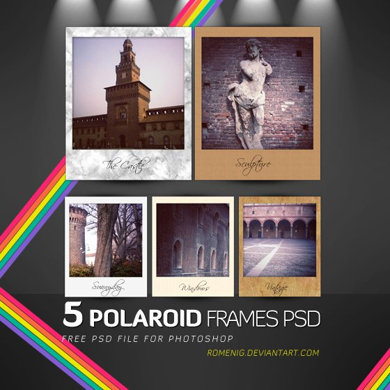 Polaroid Frame Psd Unique Free Polaroid Frames Psd by Romenig On Deviantart