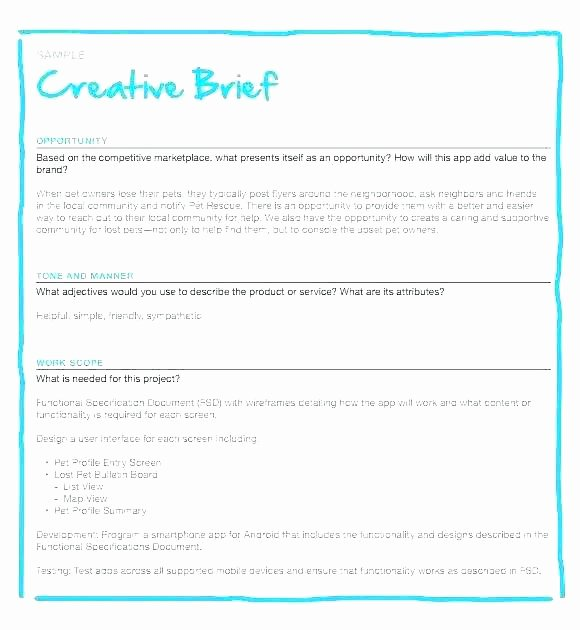 Policy Brief Template Microsoft Word Inspirational Creative Brief Marketing Campaign Template Word Examples