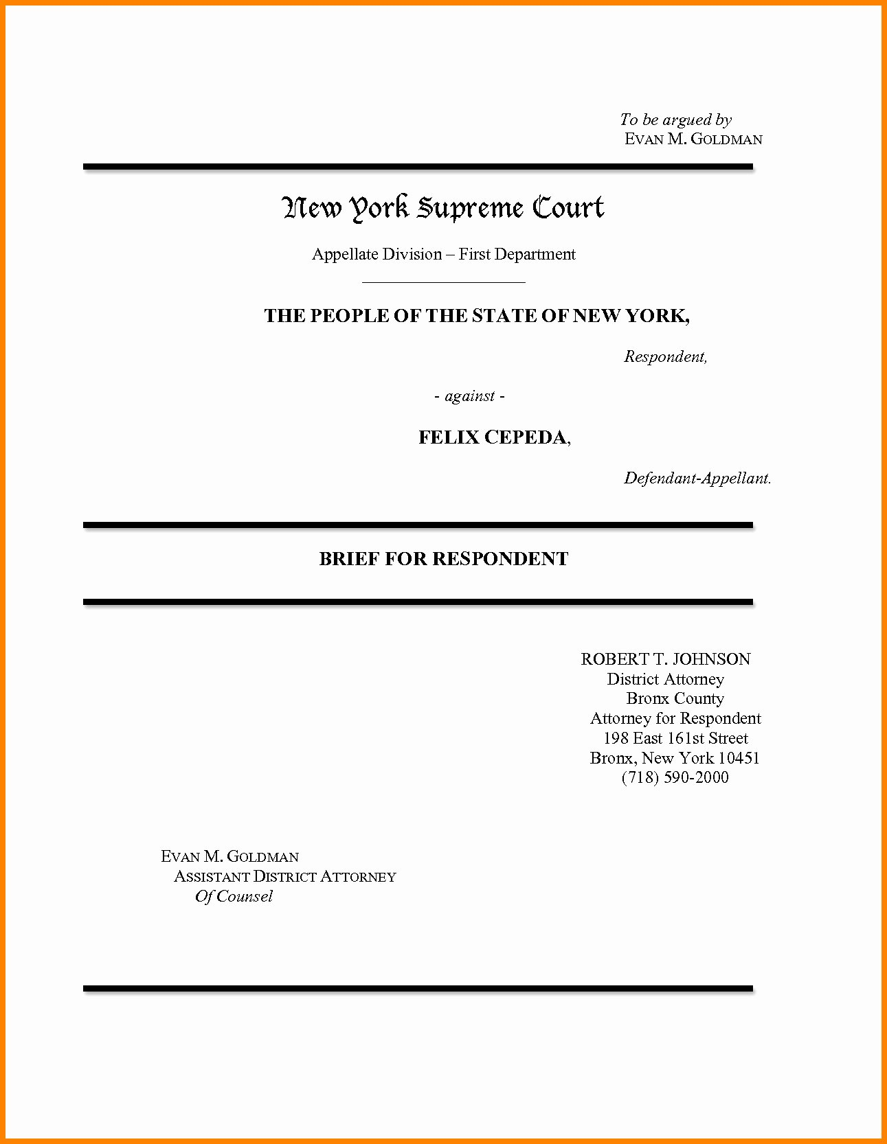 Policy Brief Template Microsoft Word New Appellate Brief Cover Page Word Template Templates
