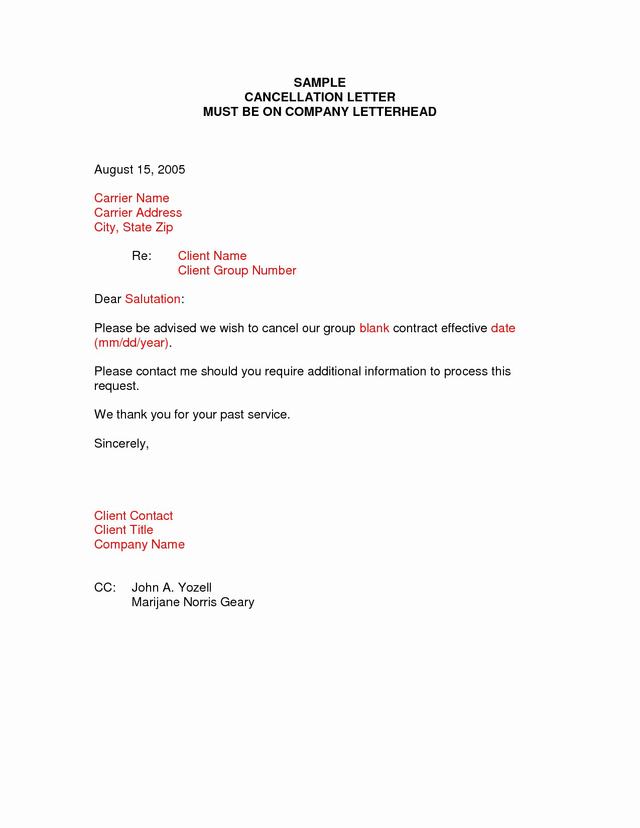 Policy Letter Template New Insurance Policy Cancellation Letter Template Examples