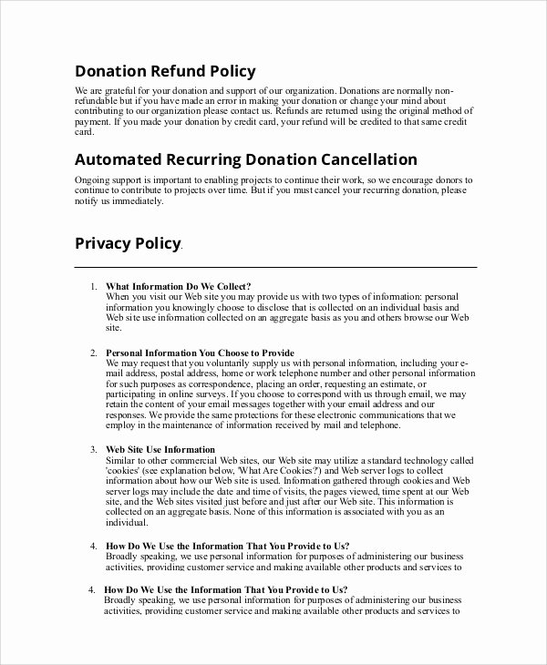 Policy Letter Template New Sample Refund Policy 8 Documents In Word Pdf
