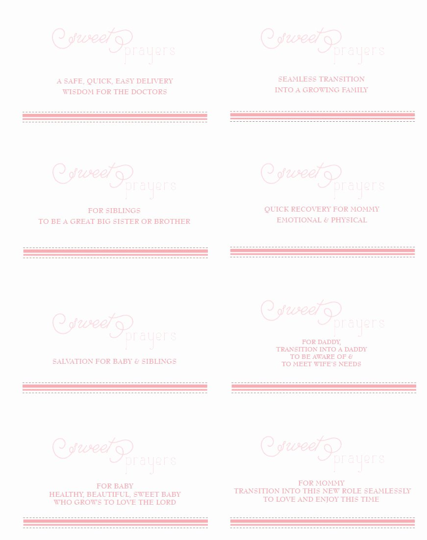 Prayer Request Cards Free Printables Elegant ashlee Proffitt Design Pink Peach & White Baby Shower