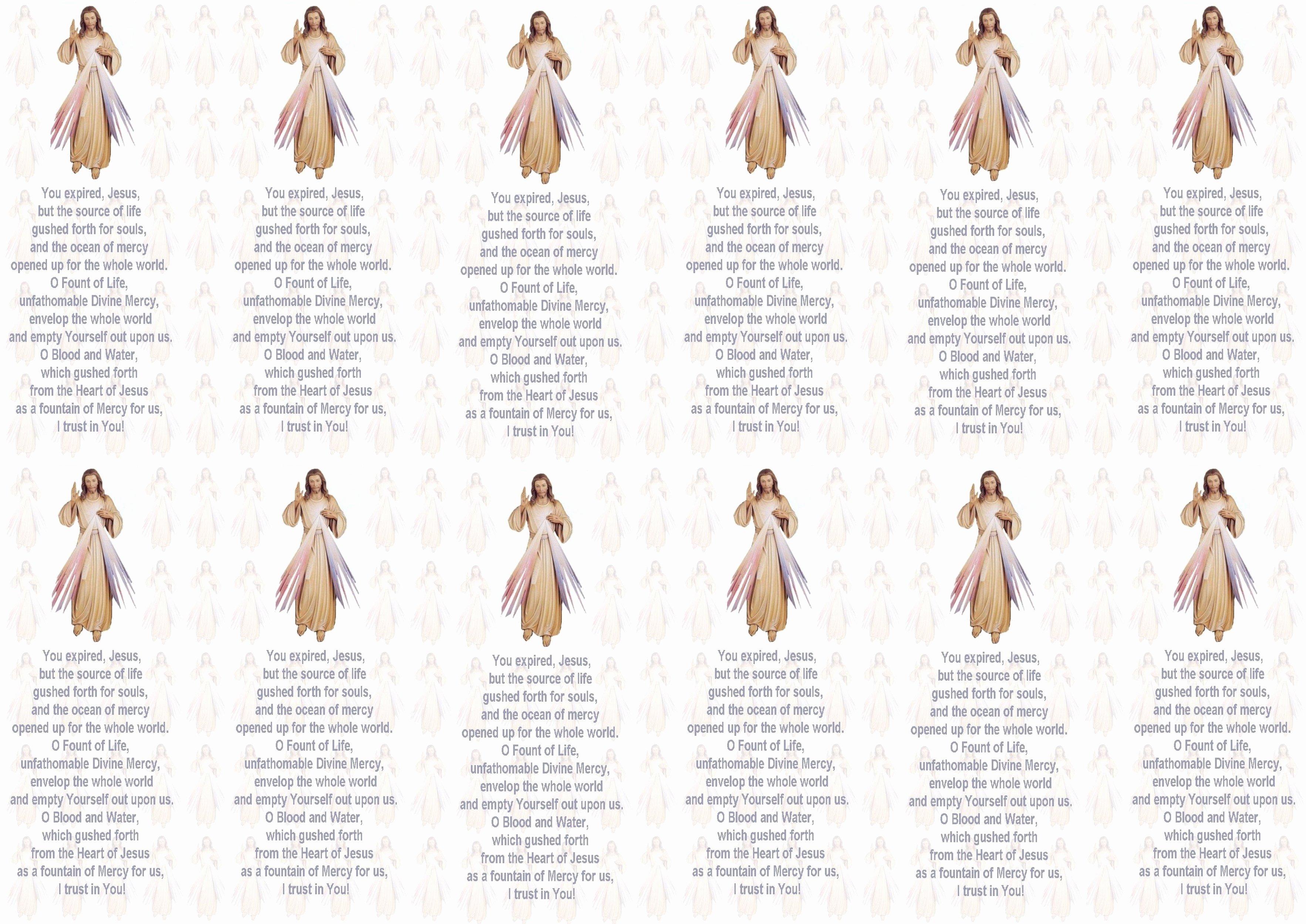 Prayer Request Cards Free Printables Elegant Free Printable Prayer Cards – Divine Mercy Prayer Cards