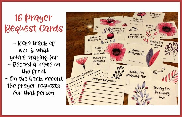 Prayer Request Cards Free Printables Elegant Prayer Card Set for Moms Homeschool Printables for Free