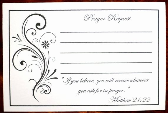 Prayer Request Cards Free Printables Inspirational Packs Of Prayer Request Cards Prayer List