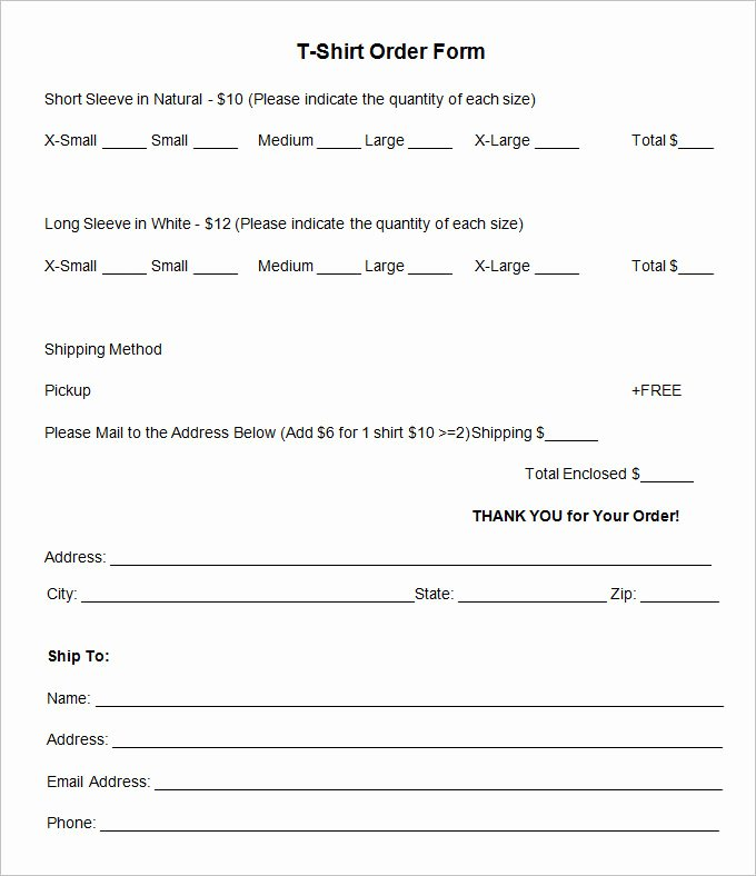 Pre order form Template Awesome T Shirt order form Template 26 Free Word Pdf format