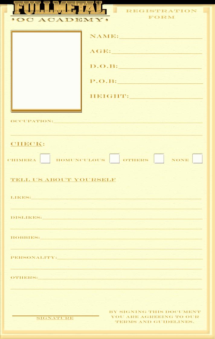 Pre order form Template Inspirational Registration form Template by Bitter Cherry On Deviantart