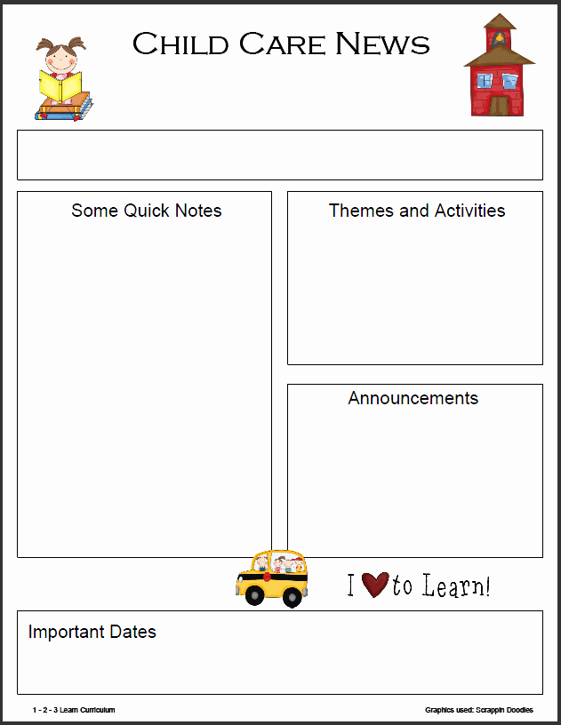 Preschool Newsletter Templates Free Unique 8 Best Of Monthly Newsletter Template Printables