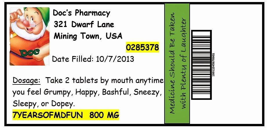 Prescription Bottle Label Template Elegant Invite and Delight October 2013