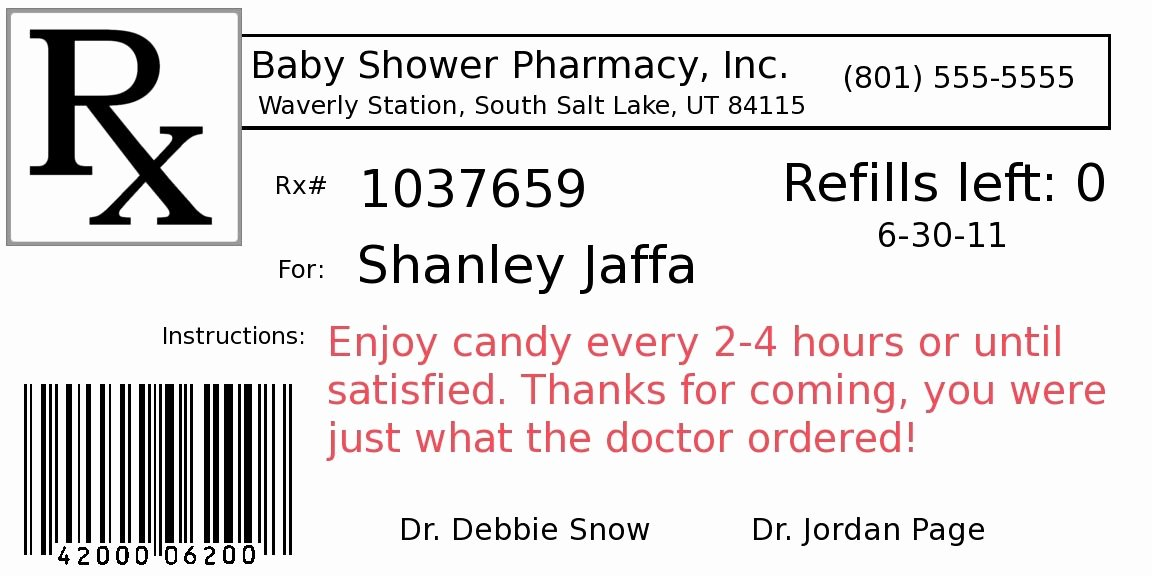 Prescription Bottle Label Template Fresh Happy Pills Label Printable Google Search