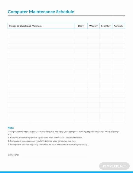 electrical preventive maintenance schedule