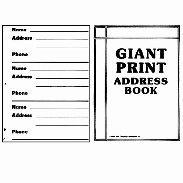 Printable Address Book Template Unique Maxiaids