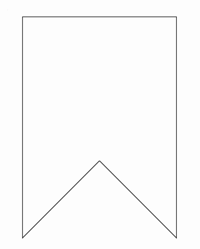 Printable Banner Templates Unique Bunting Template On Pinterest
