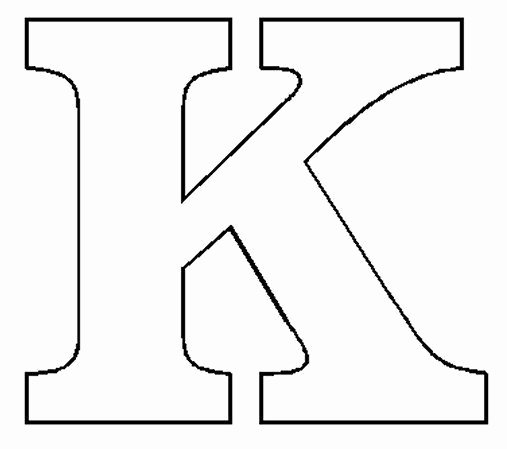 Printable Block Letters Template New Block Letter K Template Living Room