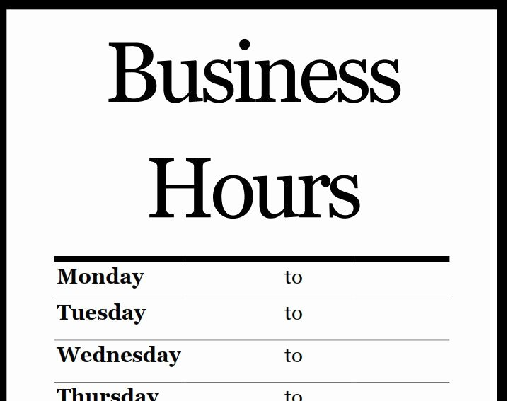 Printable Business Hours Sign Awesome Best 25 Business Hours Sign Ideas On Pinterest