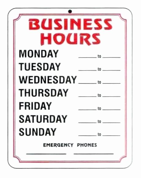 Printable Business Hours Sign Awesome Printable Fice Hours Sign