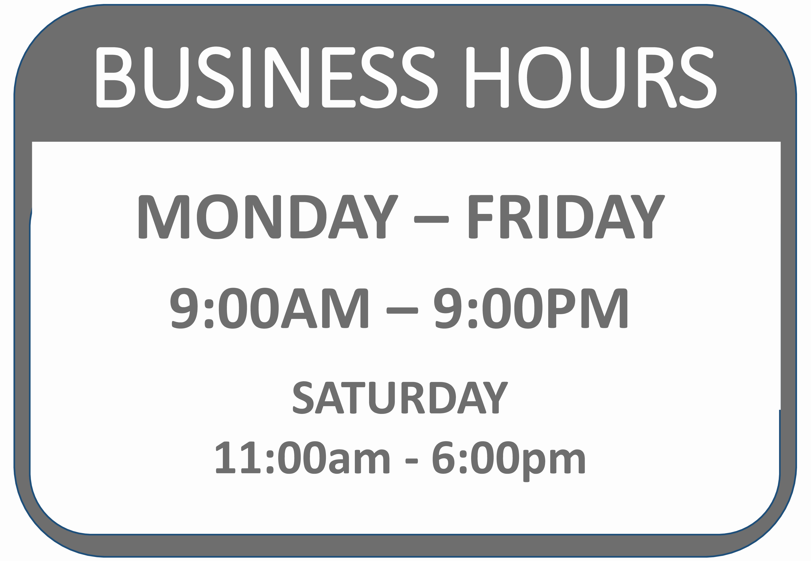 Printable Business Hours Sign Lovely Business Hours Of Operation Template