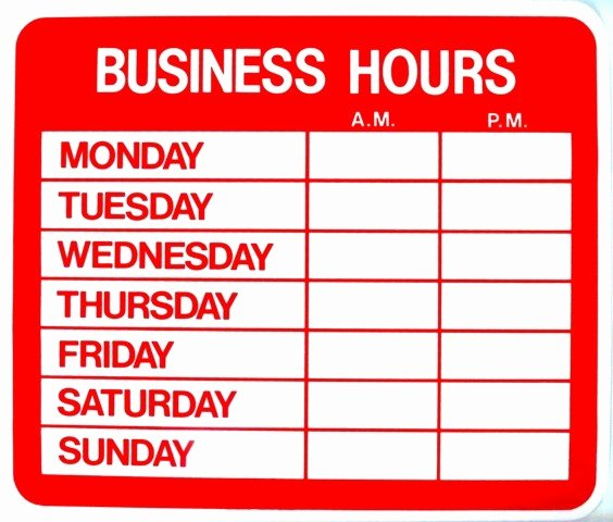 Printable Business Hours Sign Unique Work From Home Salon Hours Establishing Boundaries ask