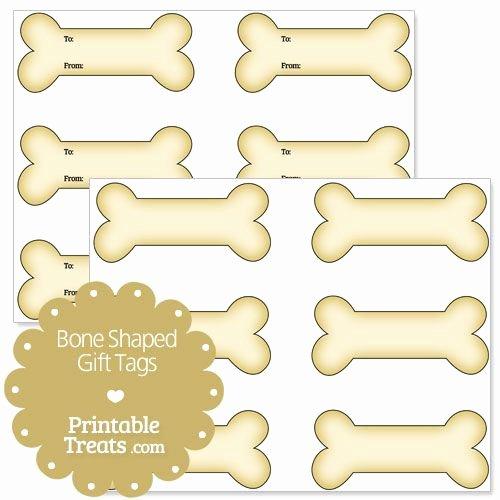 Printable Dog Tag Template Fresh Printable Bone Shaped Gift Tags Printable Treats
