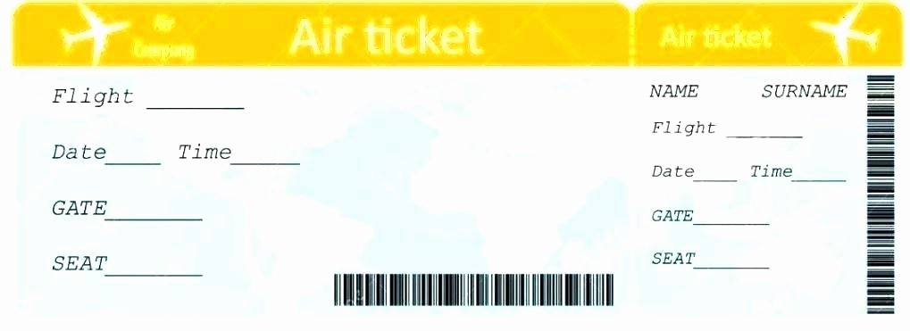 Printable Fake Tickets Awesome Create Fake Airline Tickets – Fake Airline