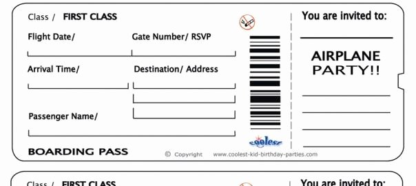 Printable Fake Tickets Best Of Free Printable Airline Ticket