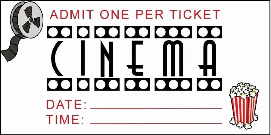 Printable Fake Tickets Elegant Fake Movie Ticket Template – Scsllc