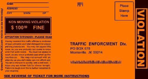 Printable Fake Tickets New Prank Parking Tickets 13 Deals