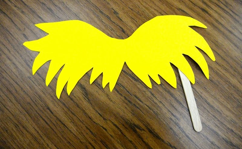 Printable Lorax Mustache and Eyebrows Awesome Lorax Mustache Template Printable