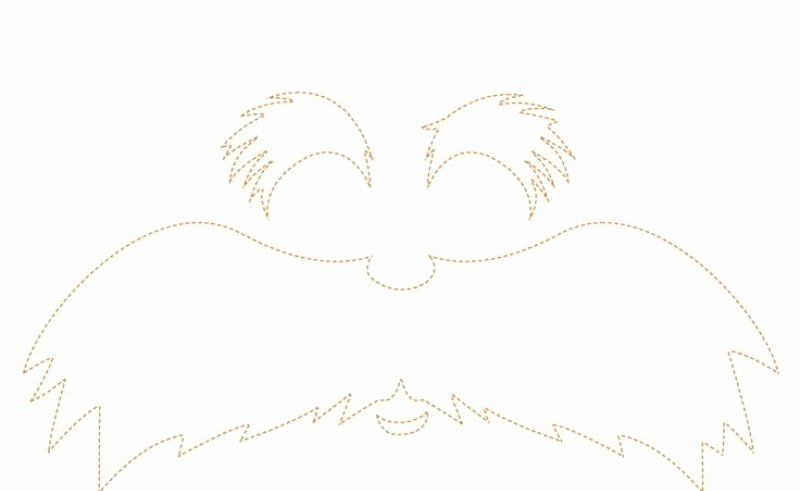 Printable Lorax Mustache and Eyebrows Fresh White Mustache Template