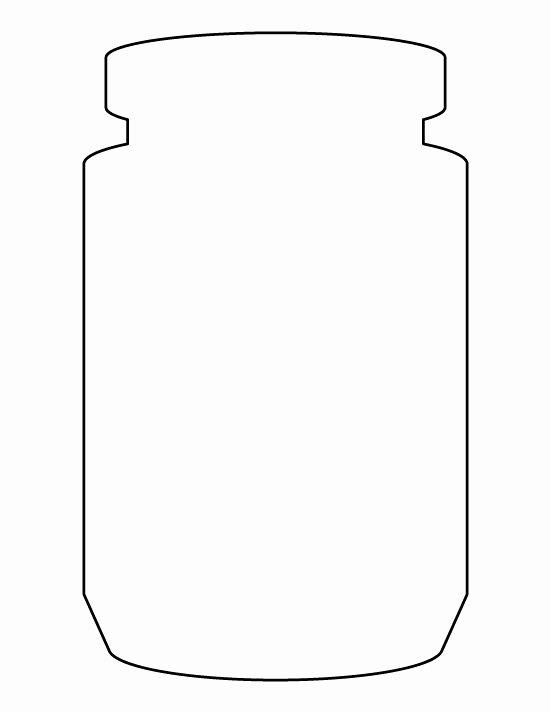Printable Mason Jar Templates Beautiful Jar Pattern Use the Printable Outline for Crafts