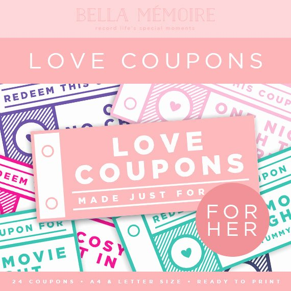 Printable Massage Coupons Beautiful Printable Love Coupons for Her Instant Download Last