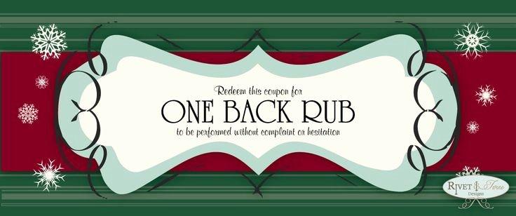 """Printable Massage Coupons Elegant Stocking Stuffers """"free Back Rub"""" Coupons Ing soon"""