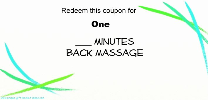Printable Massage Coupons Inspirational Free Printable Coupons for Unique Gift Ideas