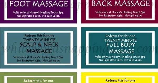Printable Massage Coupons Lovely Massage Coupons for Him Gonna Make My Own Custom Coupons