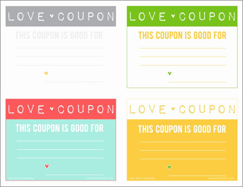 Printable Massage Coupons New Love Coupons Free Download Kiki & Pany