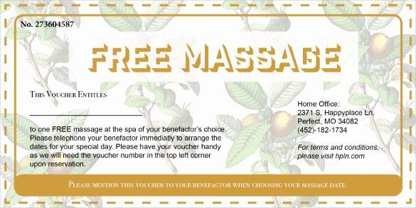 Printable Massage Coupons Unique 21 Massage Voucher Templates Psd Ai Word