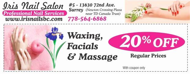 Printable Massage Coupons Unique Massage F at Iris Nail Salon Health & Beauty