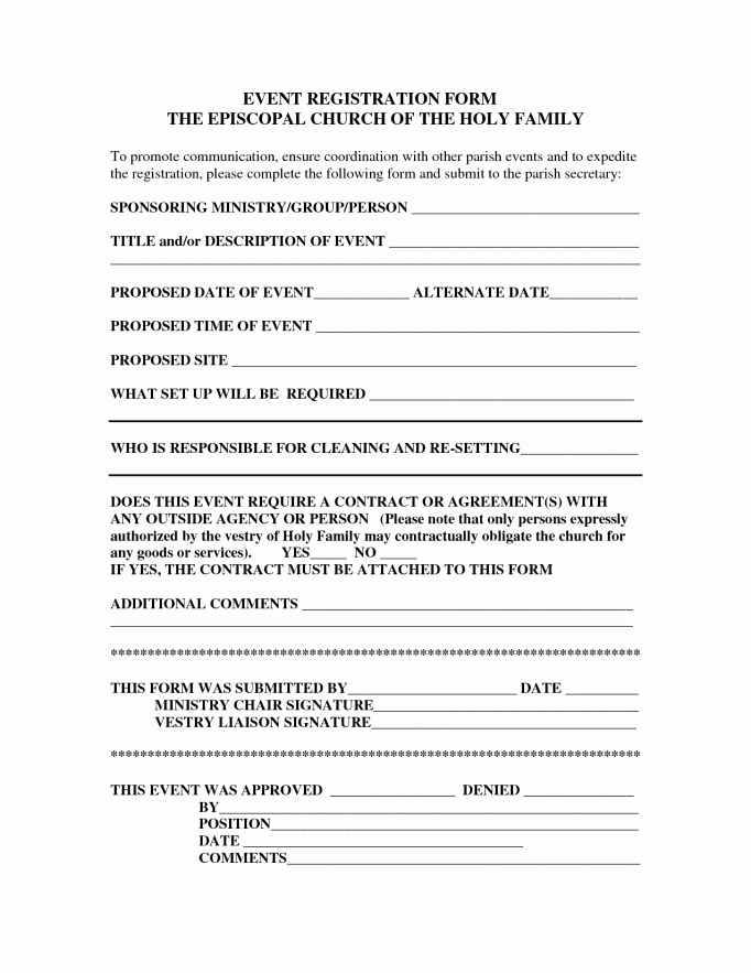 picture regarding Printable Registration Form Template Word referred to as Printable Registration type Template Peterainsworth