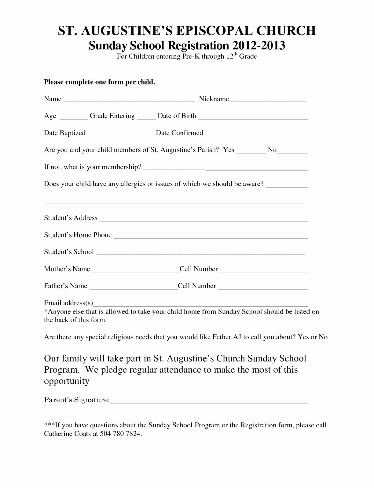 photo about Printable Registration Form Template named Printable Registration kind Template Peterainsworth